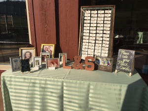 Escort Cards and Family Photos